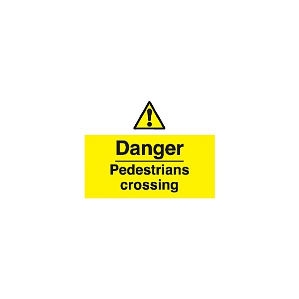 Danger Pedestrians Crossing Sign