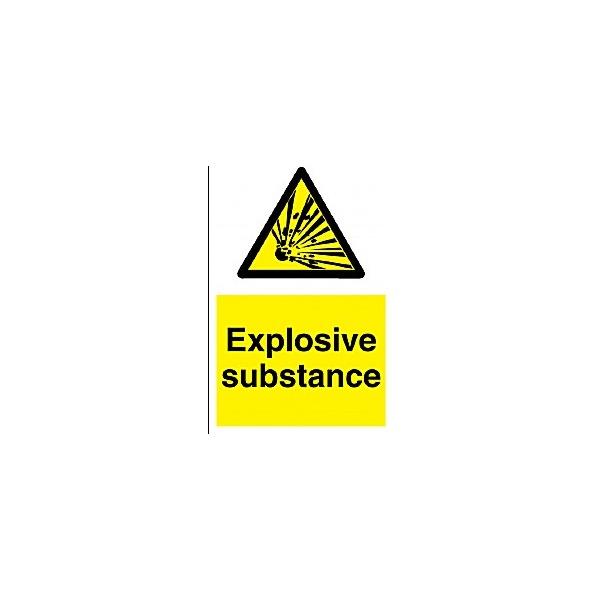 Explosive Substance Sign