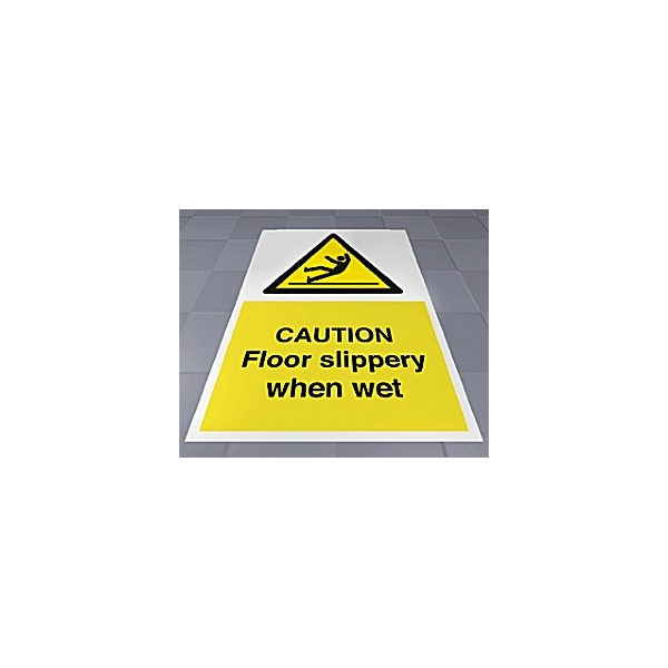 Caution Floor Slippery When Wet Floor Sign