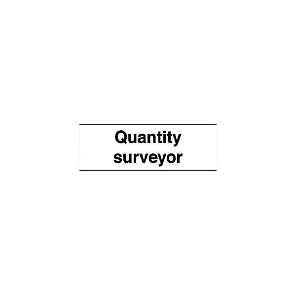 Quantity Surveyor Sign