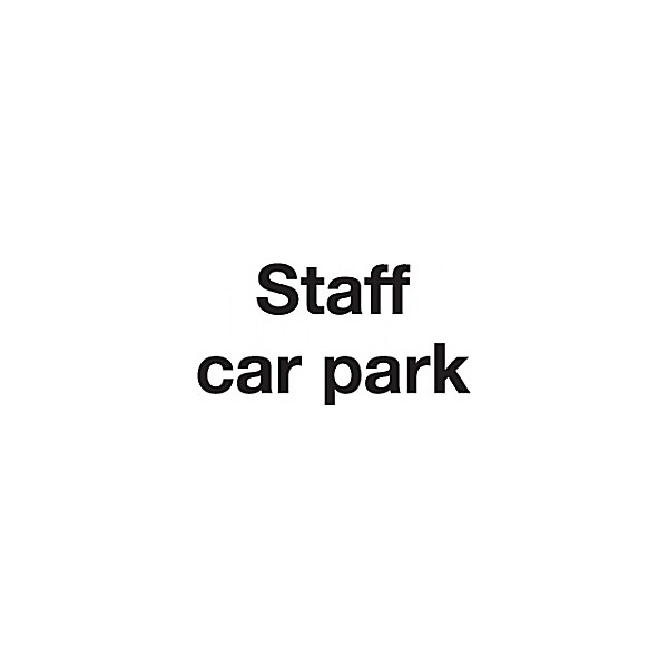 Staff Car Park Sign