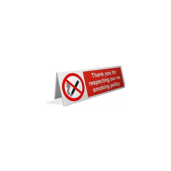 Thank You For Respecting Our No Smoking Policy Desktop Sign x4