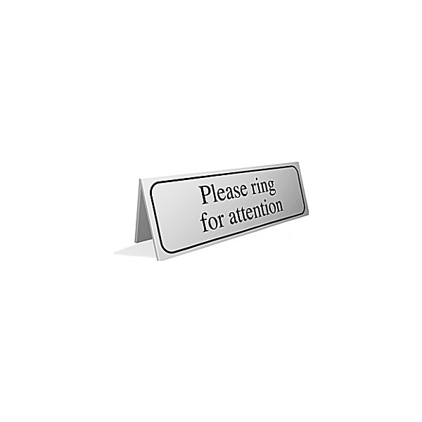 Please Ring For Attention Desktop Sign
