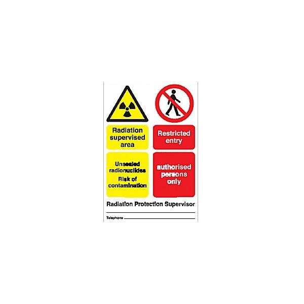 Radiation Supervised Area ...Sign (6)