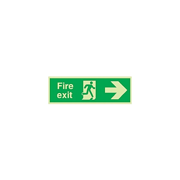 Fire Exit Sign - Right Arrow