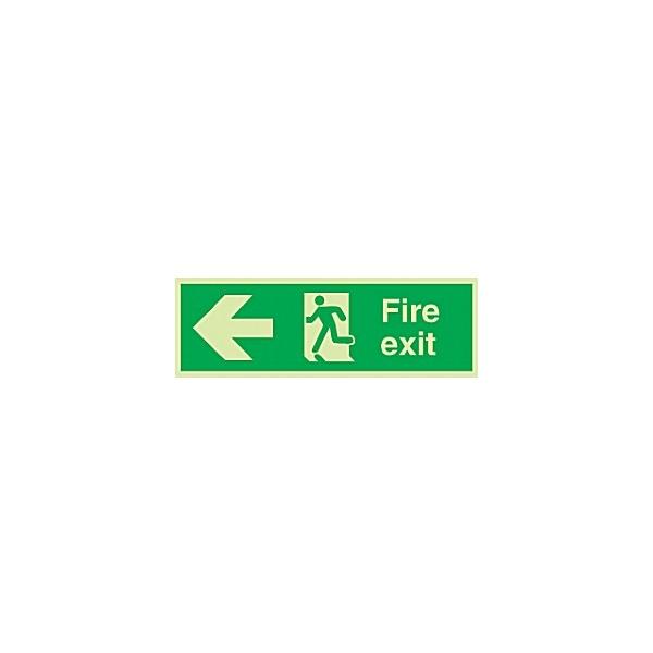 Fire Exit Left Arrow Gemglow Sign
