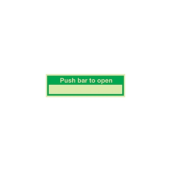 Push Bar To Open Gemglow Sign