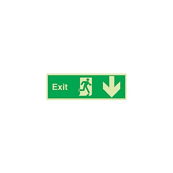 Fire Exit Down Arrow Gemglow Sign