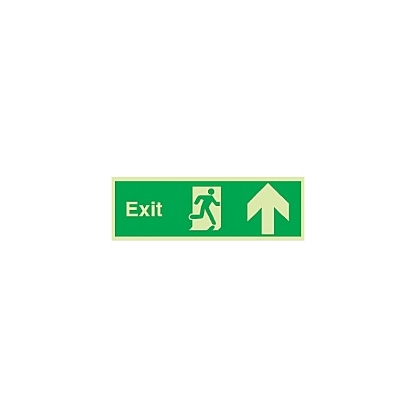 Fire Exit Up Arrow Gemglow Sign