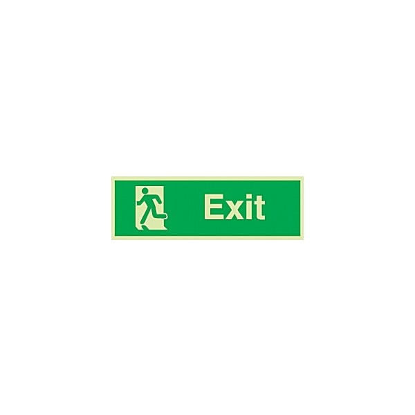 Exit Man Escaping Left Gemglow Sign