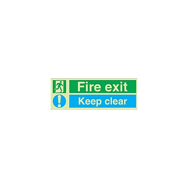Fire Exit Keep Clear Gemglow Sign