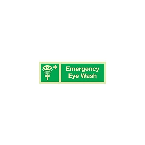 Emergency Eye Wash Gemglow Sign