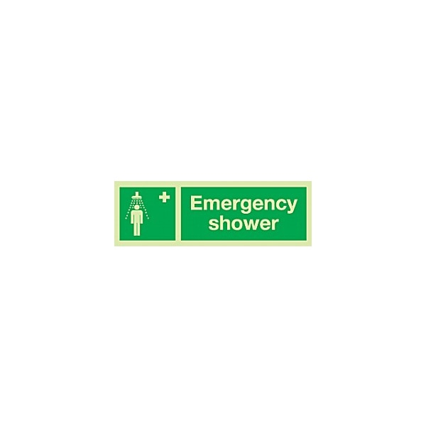 Emergency Shower Gemglow Sign