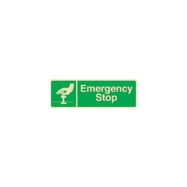 Emergency Stop Gemglow Sign
