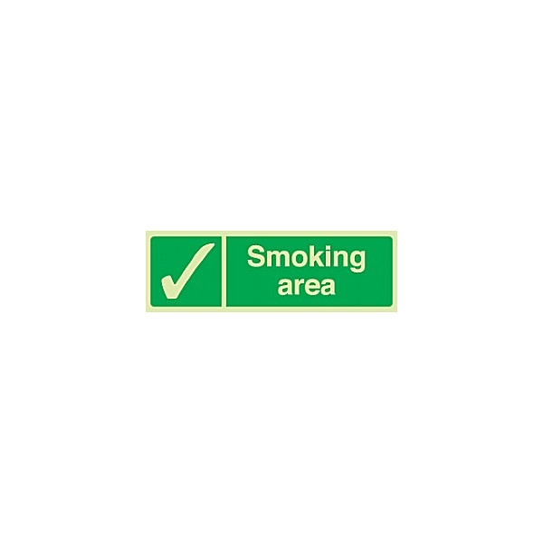 Smoking Area Gemglow Sign