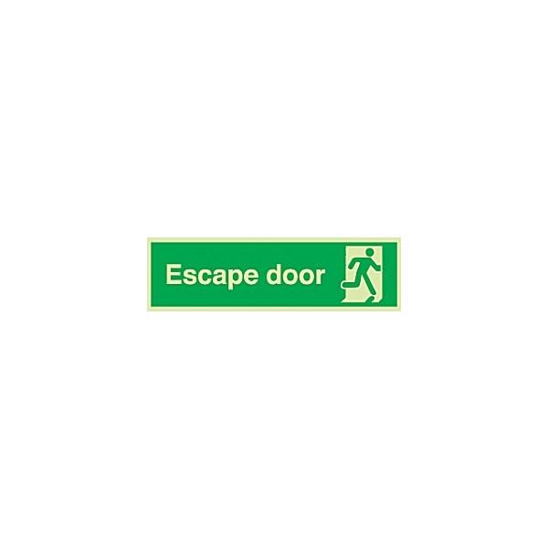 Escape Door Gemglow Sign