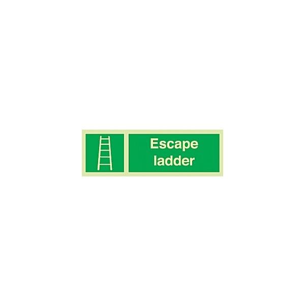 Escape Ladder Gemglow Sign