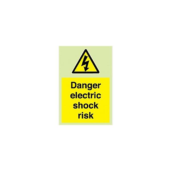 Danger Electric Shock Risk Gemglow Sign