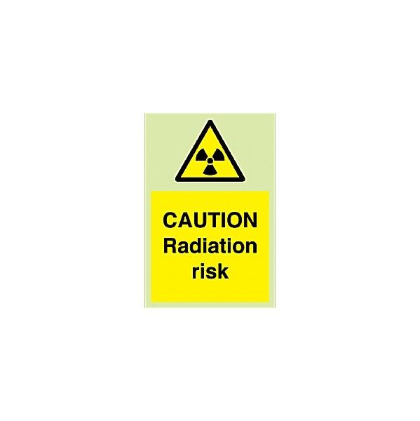 Caution Radiation Risk Gemglow Sign