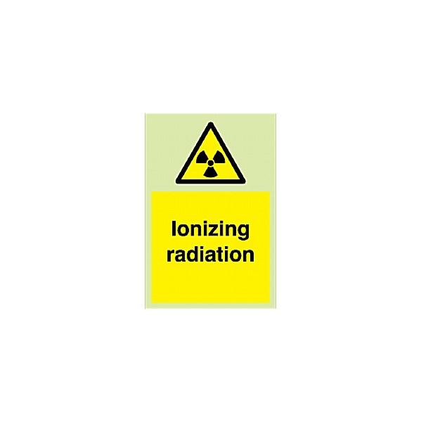 Ironizing Radiation Gemglow Sign