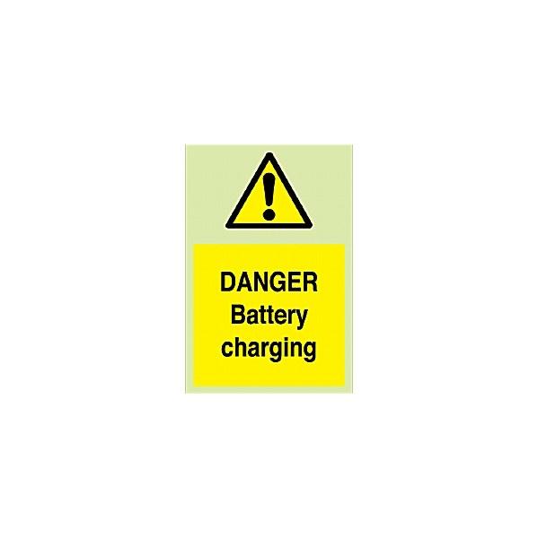 Danger Battery Charging Gemglow Sign