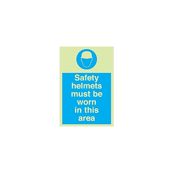 Safety Helmets Must Be Worn In This Area Gemglow Sign