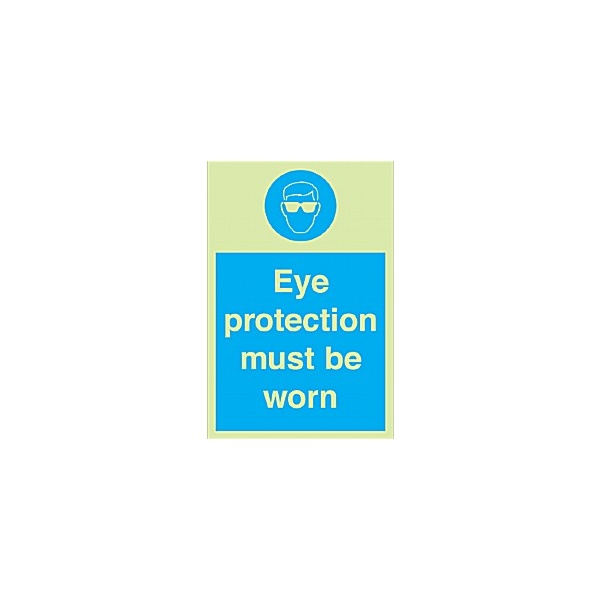 Eye Protection Must Be Worn Gemglow Sign