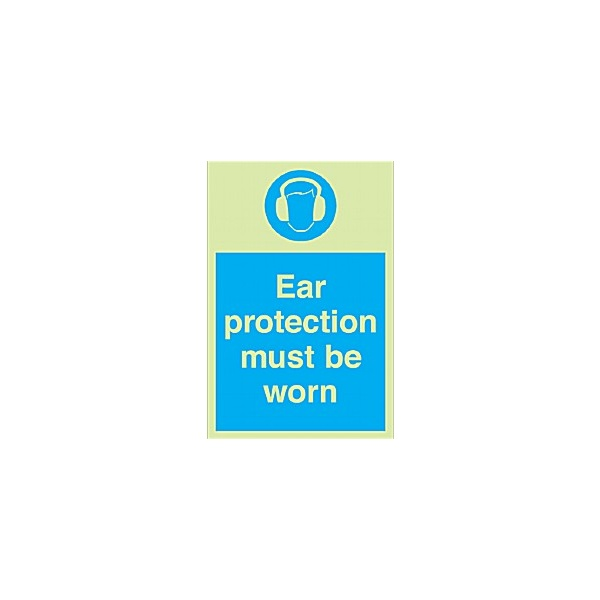 Ear Protection Must Be Worn Gemglow Sign