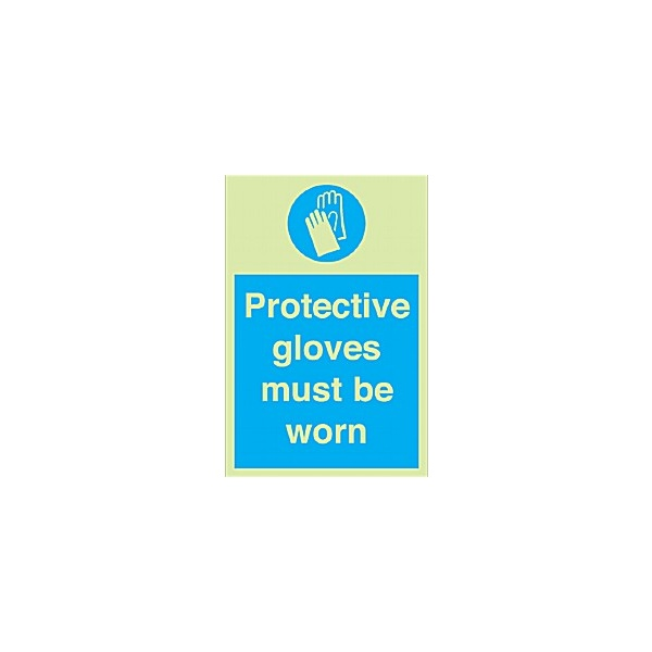 Protective Gloves Must Be Worn Gemglow Sign
