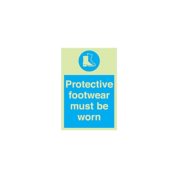 Protective Footwear Must Be Worn Gemglow Sign