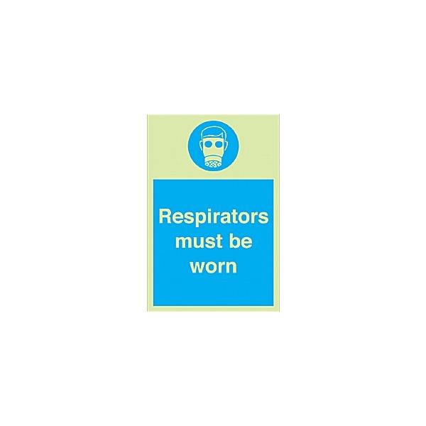 Respirators Must Be Worn Gemglow Sign
