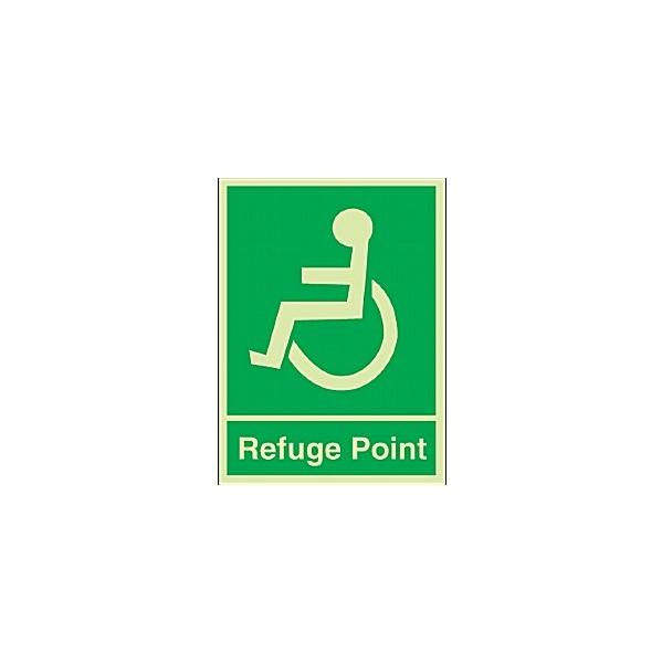Disabled Refuge Point Gemglow Sign
