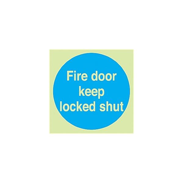 Fire Door Keep Locked Shut Gemglow Sign