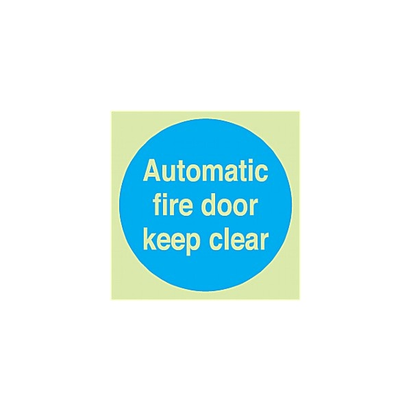 Automatic Fire Door Keep Clear Gemglow Sign