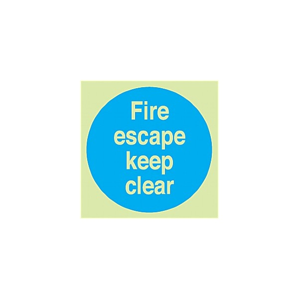 Fire Escape Keep Clear Gemglow Sign