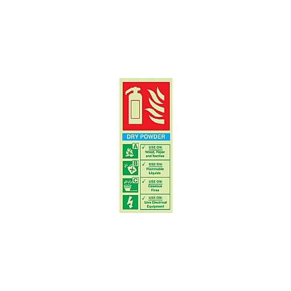 Dry Powder Extinguisher Gemglow Sign