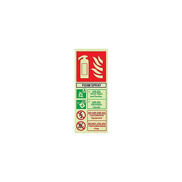 Foam Spray Extinguisher Gemglow Sign