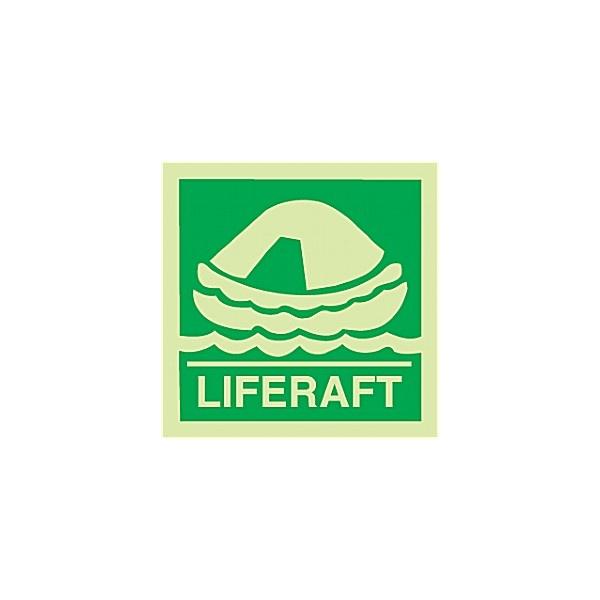 Gemglow Liferaft Sign
