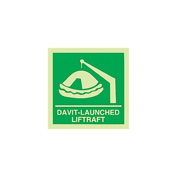 Gemglow Davit-Launched Liferaft Sign