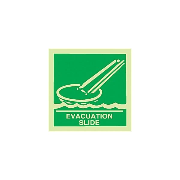 Gemglow Evacuation Slide Sign
