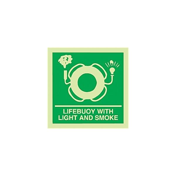 Gemglow Lifebuoy With Light And Smoke Sign