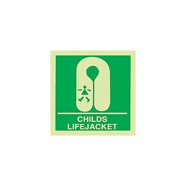 Gemglow Childs Life Jacket Sign
