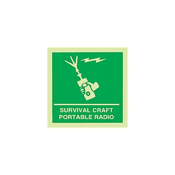 Gemglow Survival Craft Portable Radio Sign