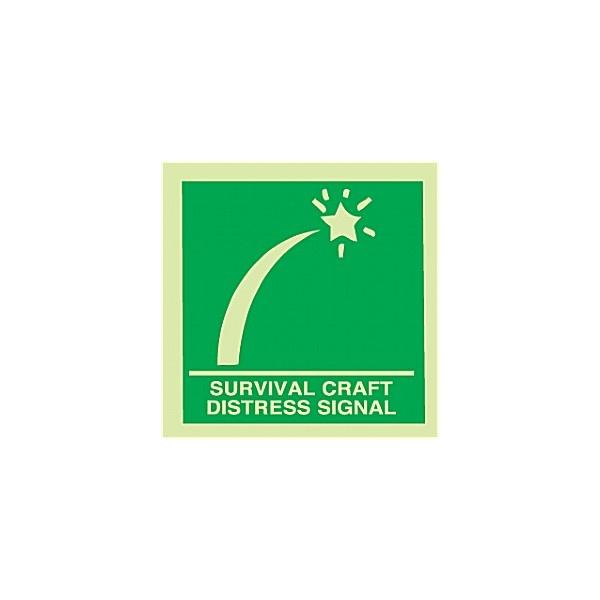 Gemglow Survival Craft Distress Signal Sign