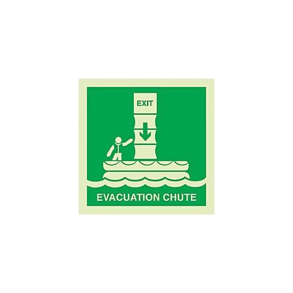Gemglow Evacuation Chute Sign