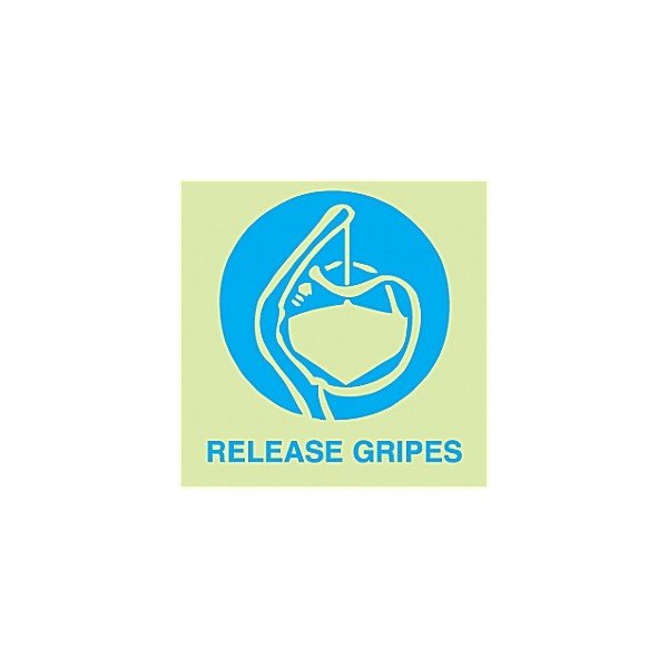 Gemglow Release Gripes Sign