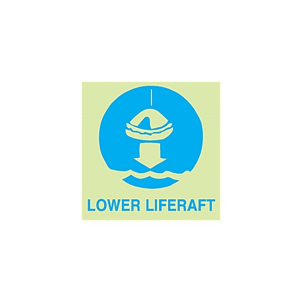 Gemglow Lower Liferaft Sign