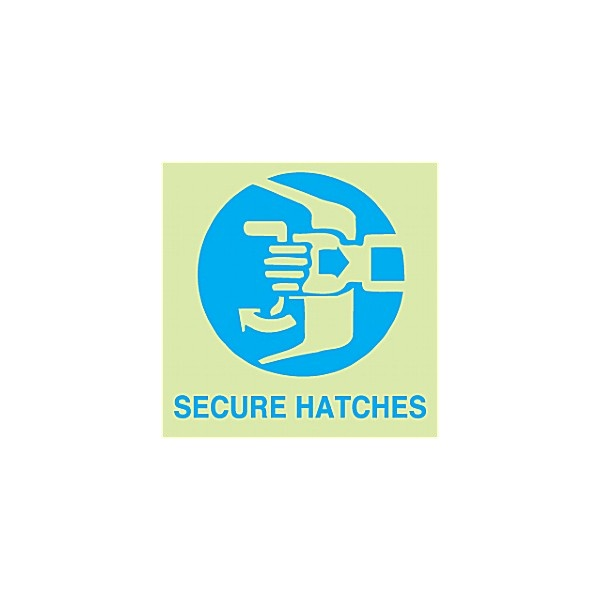 Gemglow Secure Hatches Sign