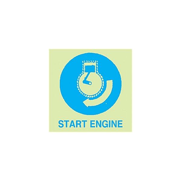 Gemglow Start Engine Sign