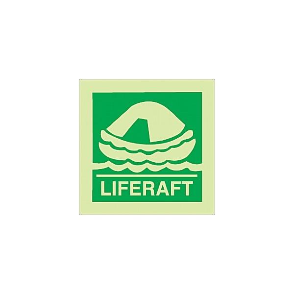 Gemglow Life Raft Sign